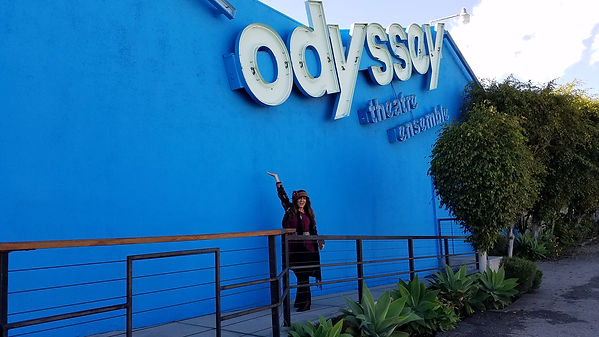 Gina in front of Odyssey Theatre.jpg