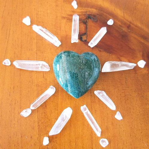 Fuchsite Heart