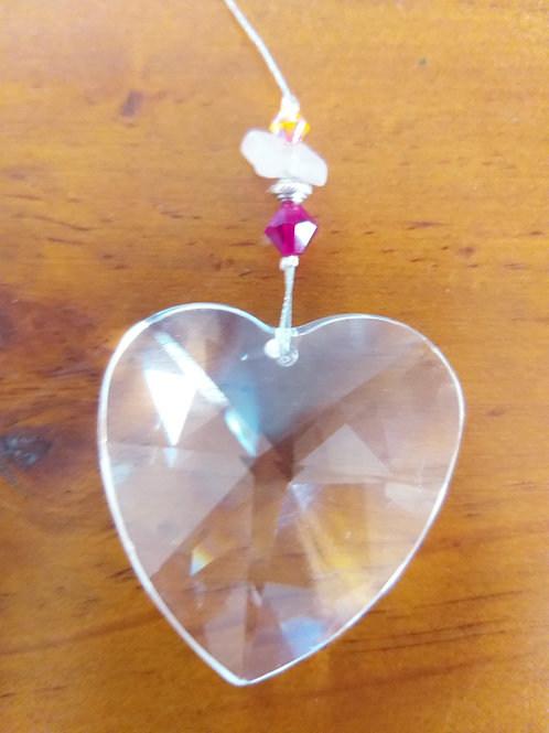Rose Quartz Suncatcher