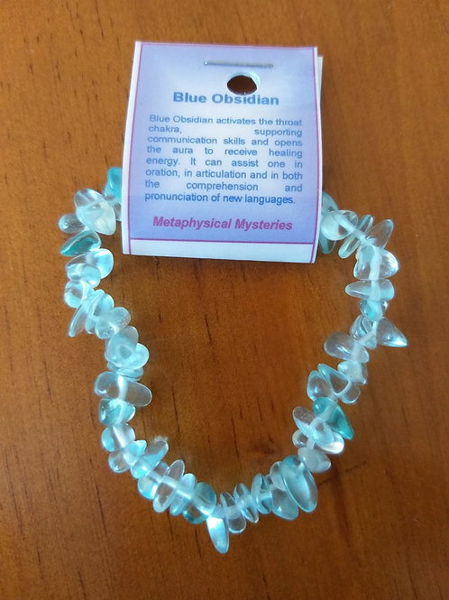 Blue Obsidian Bracelet