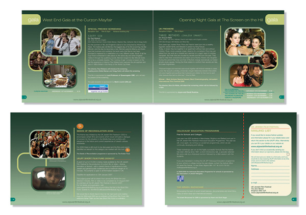 Jewish Film Festival catalogue pages