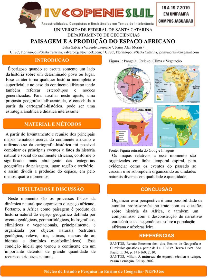 PAISAGEM E A PRODUÇÃO DO ESPAÇO AFRICANO
