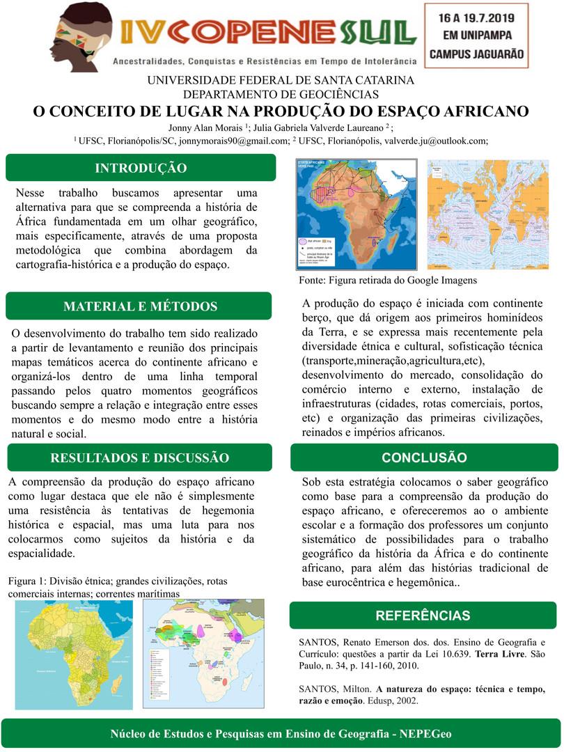 O CONCEITO DE LUGAR NA PRODUÇÃO DO ESPAÇO AFRICANO