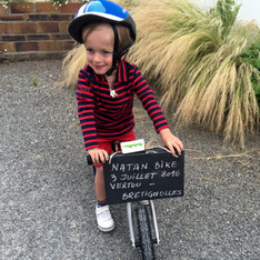 Natan's Bike 2 Départ insolite de l'étape 2 Nantes Juillet 2016