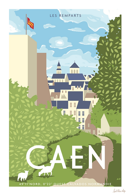 Caen - les remparts -  TP37