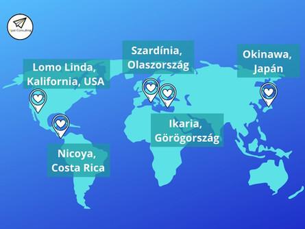 Érdekességek Európából: kék zónák