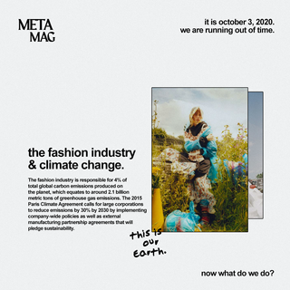 Fashion Industry & Climate Change