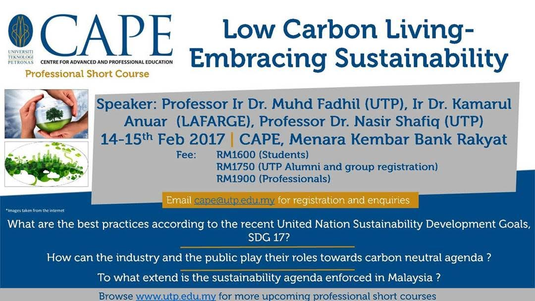 Sustainability talk at UTP