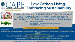 Sustainability talk at UTP