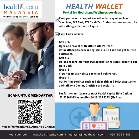 Health Wallet - Portal for Health & Well