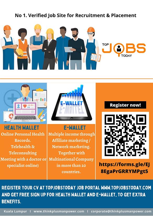 TOP JOBS TODAY- Health Wallet & E-Wallet