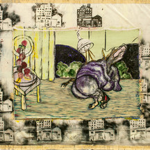 """Annunciation in a scattered city"" - 1987"