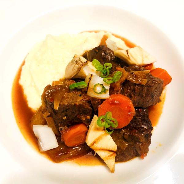 Kimchi Beef Bourguignon