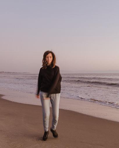 photographer self portrait on the beach