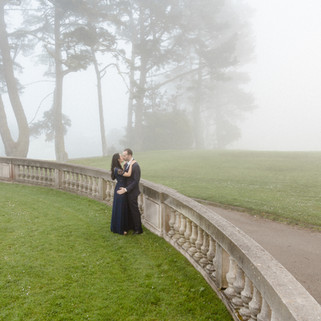 foggy engagement in sf