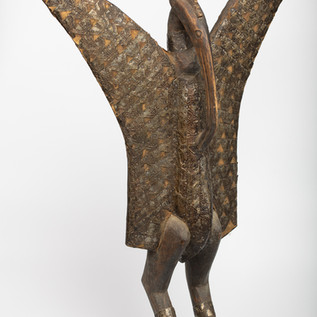 Figure of a hornbill, Senufo, Ivory Coast