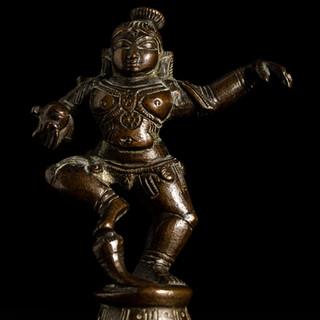 Cast bronze Krishna