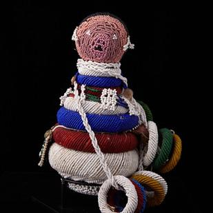 Zulu beadwork doll 2005 RU 15 B