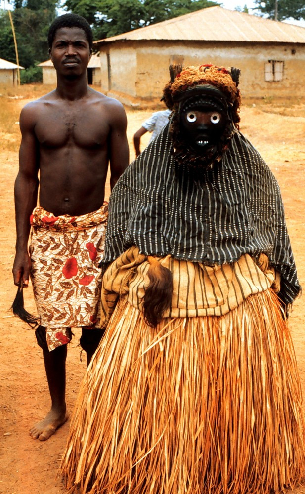 Mask, Dan artist, village of Nyor Diaple, Liberia. February 1986. Photo by William Siegmann.
