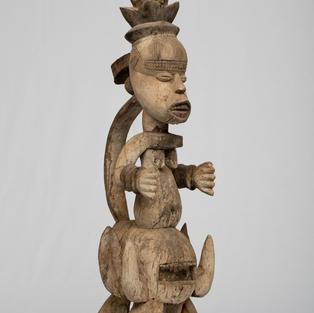 Ikenga Figure, Igbo, Nigeria, wood.