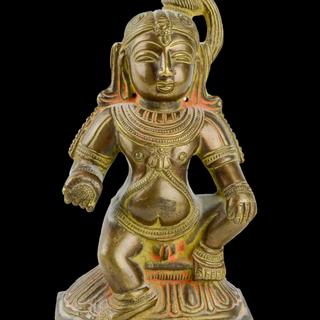 Krishna holding butterball, Hindu, India, 20th Century
