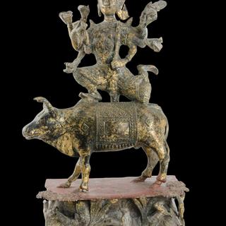 Shiva riding his mount, 20th century