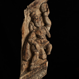 Fragment from Indian religious cart