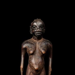 Wood female figure