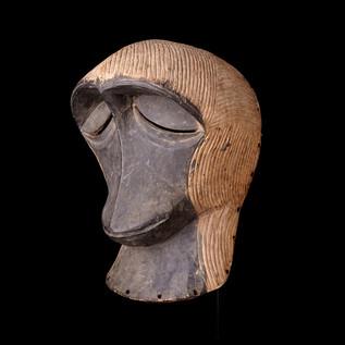 Kifwebe Mask in form of Monkey, Kifwebe, D.R.C.