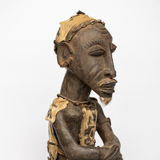 Seated Figure, Baule, Wood