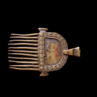 Voltaic bronze pendant, Burkina Faso
