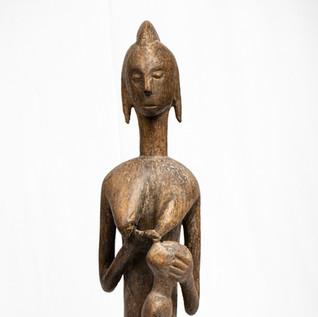 Carved female figure, Bambara people