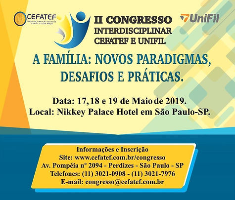II Congresso Interdisciplinar CEFATED e