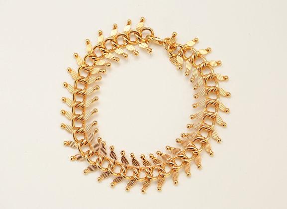 bracelet en chaine en Plaqué or 24ct