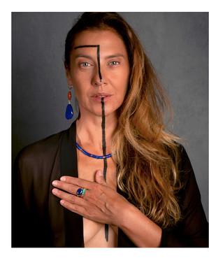 Ensemble de bijoux en Lapis Lazuli, Turquoise et Japer Rouge.