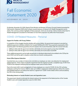 Things you should know about the Government's Fall Economic Statement 2020
