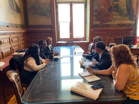Reunião com o Vereador do CDS-PP, deputada municipal e o Presidente JP Distrital de Lisboa