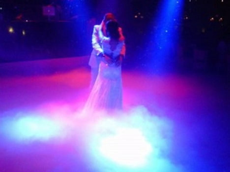 Dry Ice -Lower Fog for wedding