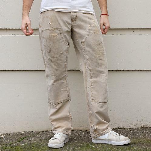 Tan Carhartt Double Knee Pants