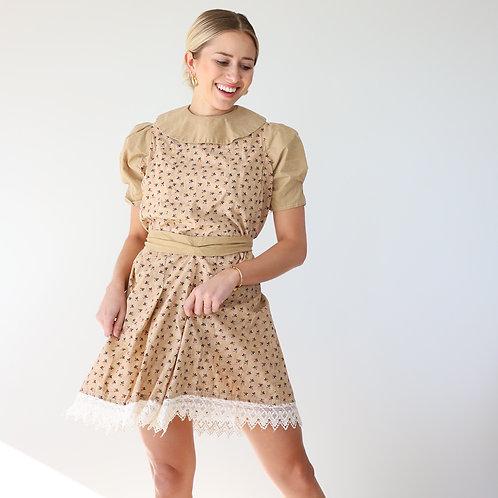 Puff Sleeve Babydoll Mini Dress