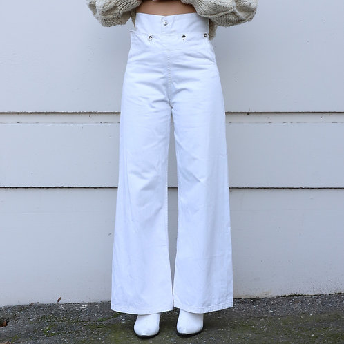 Vintage White Sailor's Pants