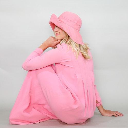 Vintage Geoffrey Beene Pink Maxi Dress
