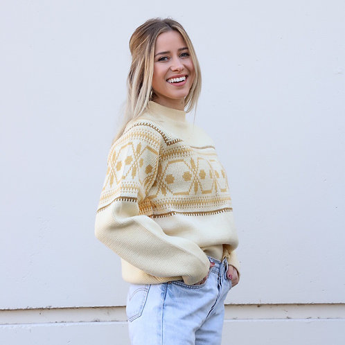 Vintage Wool Ski Sweater