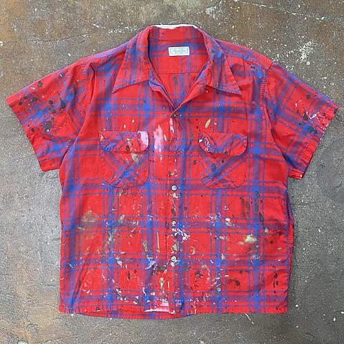 60s Plaid Painter's Shirt