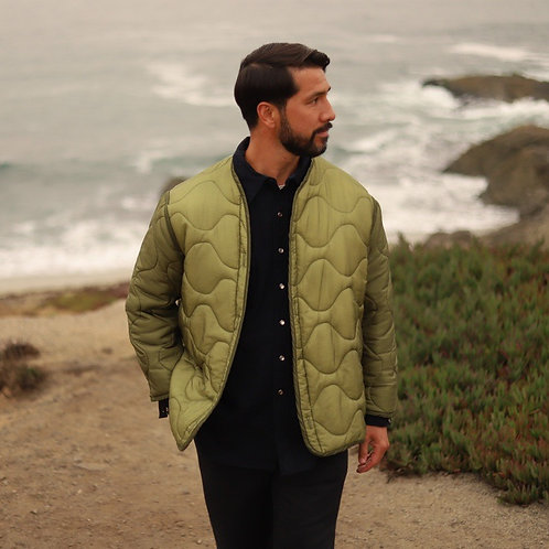 Green Military Liner Jacket