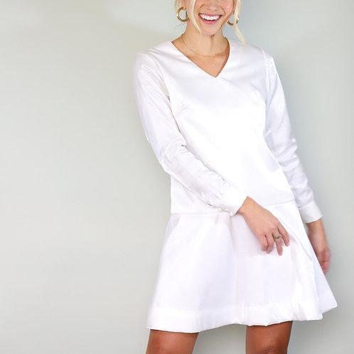 White Mod Mini Dress