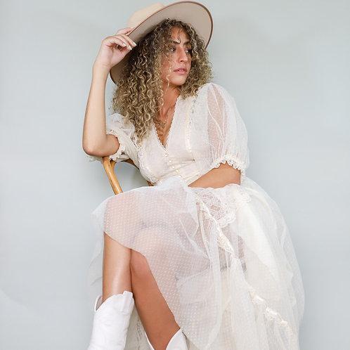 White Lace Prairie Dress
