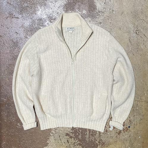 LL Bean Wool Zip Sweater