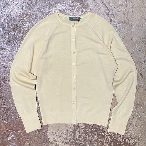 Soft Yellow Wool Cardigan