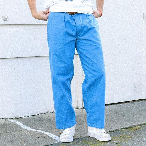 60s European Blue Military Pants